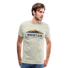 Load image into Gallery viewer, Men's Mountain Proud T-Shirt - heather oatmeal