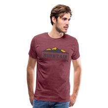 Load image into Gallery viewer, Men's Mountain Proud T-Shirt - heather burgundy