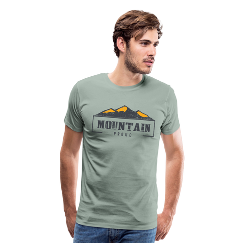 Men's Mountain Proud T-Shirt - steel green