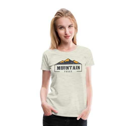 Women's Mountain Proud T-Shirt - heather oatmeal