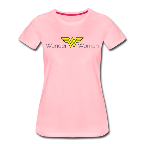 Women's Wander Woman T-Shirt - pink