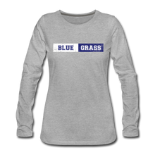 Load image into Gallery viewer, Women's Faded Bluegrass Stripe Long Sleeve T-Shirt - heather gray