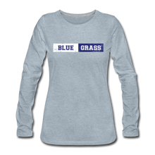 Load image into Gallery viewer, Women's Faded Bluegrass Stripe Long Sleeve T-Shirt - heather ice blue