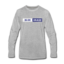 Load image into Gallery viewer, Men's Faded Bluegrass Stripe Long Sleeve T-Shirt - heather gray
