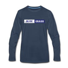 Load image into Gallery viewer, Men's Faded Bluegrass Stripe Long Sleeve T-Shirt - navy