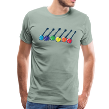 Load image into Gallery viewer, Men's Colorful Banjos T-Shirt - steel green