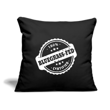 "Load image into Gallery viewer, 100% Bluegrass Fed Throw Pillow Cover 17.5"" x 17.5"" - black"