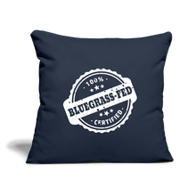 "Load image into Gallery viewer, 100% Bluegrass Fed Throw Pillow Cover 17.5"" x 17.5"" - navy"