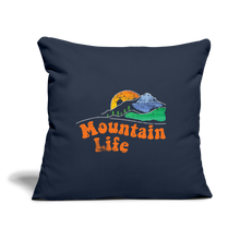 "Load image into Gallery viewer, 60s Mountain Life Throw Pillow Cover 17.5"" x 17.5"" - navy"