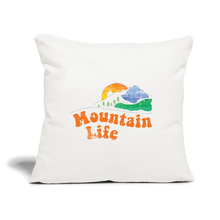 "Load image into Gallery viewer, 60s Mountain Life Throw Pillow Cover 17.5"" x 17.5"" - natural white"