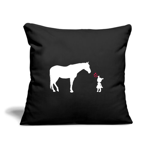 "First Love Throw Pillow Cover 17.5"" x 17.5"" - black"