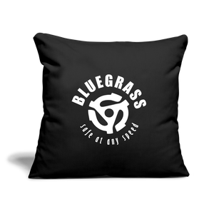 "Safe at any Speed Throw Pillow Cover 17.5"" x 17.5"" - black"