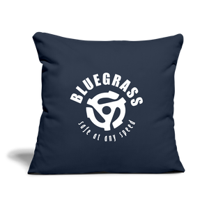 "Safe at any Speed Throw Pillow Cover 17.5"" x 17.5"" - navy"