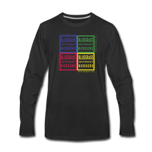 Load image into Gallery viewer, Men's Colored Bluegrass without Borders Long Sleeve T-Shirt - black
