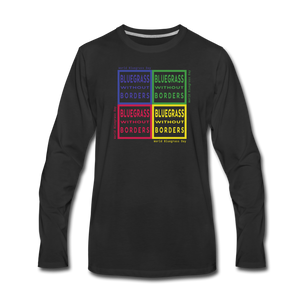 Men's Colored Bluegrass without Borders Long Sleeve T-Shirt - black