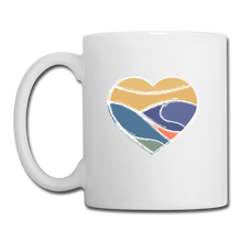 Load image into Gallery viewer, Mountain Heart Mug - white