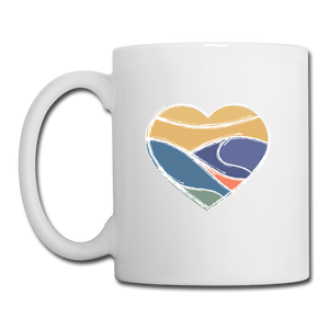 Mountain Heart Mug - white