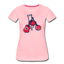 Load image into Gallery viewer, Women's Red Chair Guitar & Banjo T-Shirt - pink