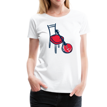 Load image into Gallery viewer, Women's Banjo Red Chair T-Shirt - white
