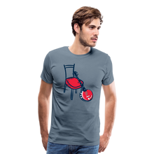 Load image into Gallery viewer, Men's Banjo Red Chair T-Shirt - steel blue
