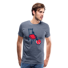 Load image into Gallery viewer, Men's Banjo Red Chair T-Shirt - heather blue