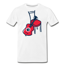 Load image into Gallery viewer, Men's Guitar Red Chair T-Shirt - white