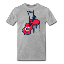 Load image into Gallery viewer, Men's Guitar Red Chair T-Shirt - heather gray