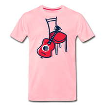 Load image into Gallery viewer, Men's Guitar Red Chair T-Shirt - pink