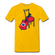 Load image into Gallery viewer, Men's Guitar Red Chair T-Shirt - sun yellow