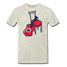 Load image into Gallery viewer, Men's Guitar Red Chair T-Shirt - heather oatmeal