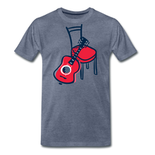 Load image into Gallery viewer, Men's Guitar Red Chair T-Shirt - heather blue