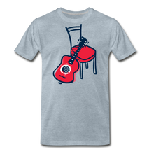 Load image into Gallery viewer, Men's Guitar Red Chair T-Shirt - heather ice blue