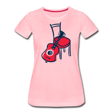 Load image into Gallery viewer, Women's Guitar Red Chair T-Shirt - pink