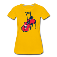 Load image into Gallery viewer, Women's Guitar Red Chair T-Shirt - sun yellow
