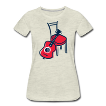 Load image into Gallery viewer, Women's Guitar Red Chair T-Shirt - heather oatmeal