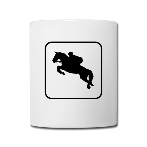 3 Sided Horse Icon Coffee/Tea Mug - white