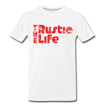 Load image into Gallery viewer, Men's Retro The Rustic Life T-Shirt - white