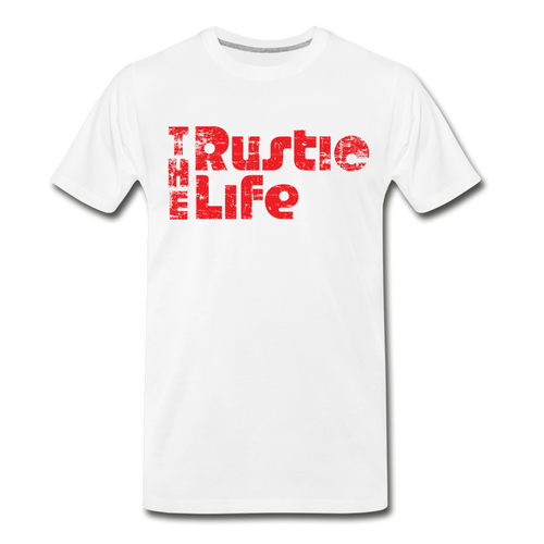 Men's Retro The Rustic Life T-Shirt - white