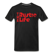 Load image into Gallery viewer, Men's Retro The Rustic Life T-Shirt - black
