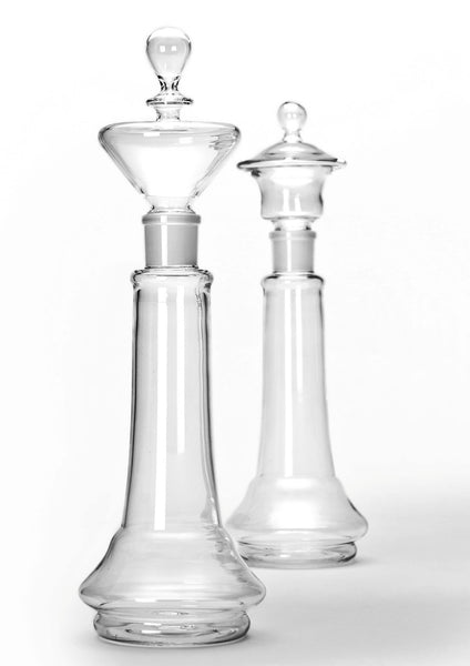 Chess shaped decanters Glass Forest