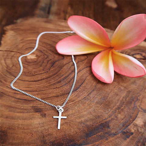 Pure Silver Cross Necklace