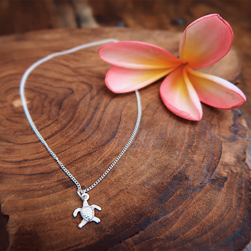 Pure Silver Turtle Necklace