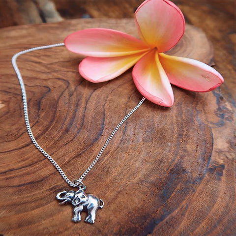Pure Silver Elephant Necklace