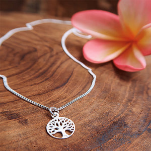 Pure Silver Tree of Life Necklace