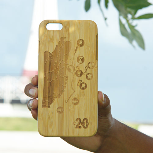 iPhone 6+/6S+ wooden phone case (Coastal Zone Management Authority & Institute design) - A&S Covers