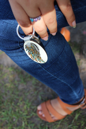 Oval Key chain