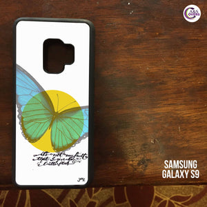 White Butterfly Grip Case Design