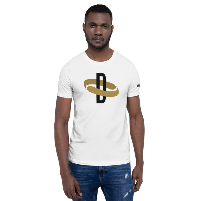 Black & Gold Collection - Mens White and Black Tee