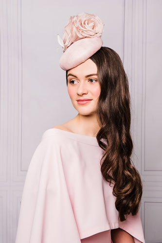 Sinamay Cocktail hat with Roses