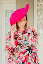 Load image into Gallery viewer, Pink Feather Diamond Hat